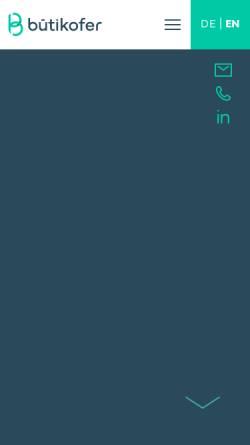 Vorschau der mobilen Webseite www.buetikofer-ag.ch, Bütikofer & Partner AG