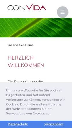 Vorschau der mobilen Webseite www.convida.ch, Convida AG