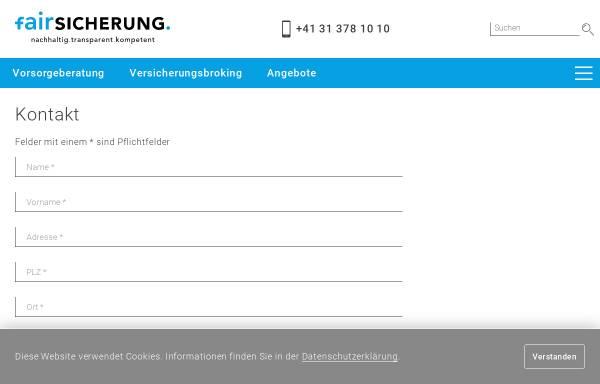 Vorschau von www.fairsicherung.ch, Fairsicherungsberatung® f.solutions AG