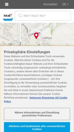 Vorschau der mobilen Webseite www.finanz-plan.ch, Finanzplanung G.Pischel