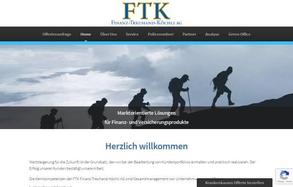 Vorschau von www.ftk.net, FTK Finanz-Treuhand-Koechli