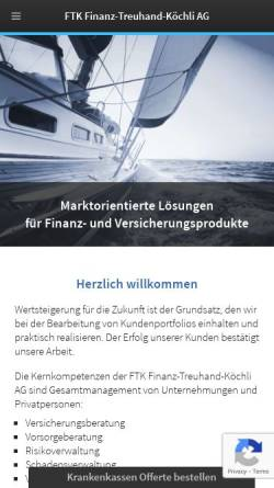 Vorschau der mobilen Webseite www.ftk.net, FTK Finanz-Treuhand-Koechli