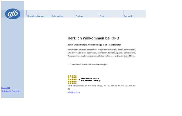 Vorschau von www.g-f-b.ch, GFB - Versicherungs- und Finanzberatung