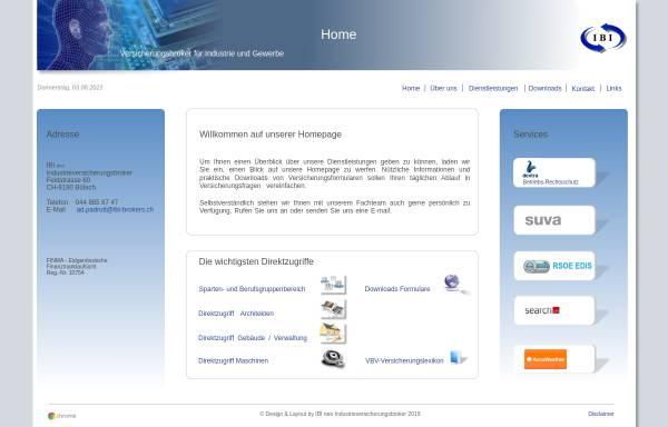 Vorschau von www.ibi-brokers.ch, IBI Insurance Brokers for Industry