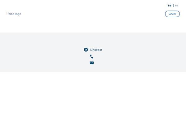 Vorschau von www.siba.ch, Verband Schweizerischer Versicherungsbroker
