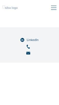 Vorschau der mobilen Webseite www.siba.ch, Verband Schweizerischer Versicherungsbroker