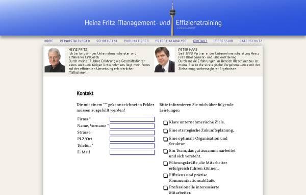 Vorschau von www.hf-management.info, Heinz Fritz Management- und Effizienztraining