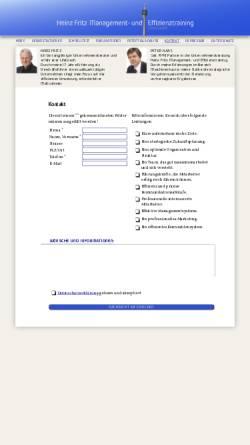 Vorschau der mobilen Webseite www.hf-management.info, Heinz Fritz Management- und Effizienztraining