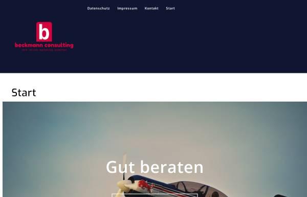 Vorschau von beckmann-edv-consulting.de, Mensch & PC - Beckmann EDV Consulting