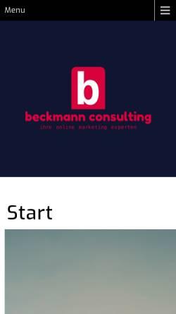 Vorschau der mobilen Webseite beckmann-edv-consulting.de, Mensch & PC - Beckmann EDV Consulting