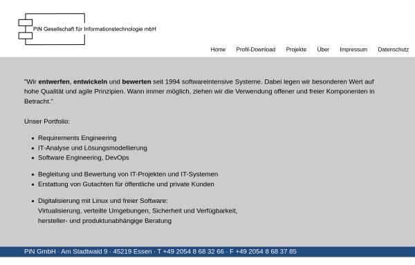 Vorschau von www.pin-gmbh.com, PiN Präsenz im Netz GmbH