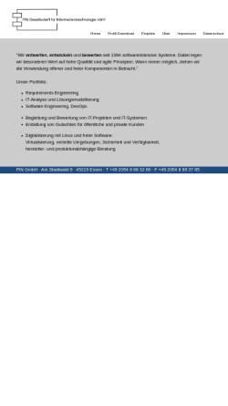 Vorschau der mobilen Webseite www.pin-gmbh.com, PiN Präsenz im Netz GmbH