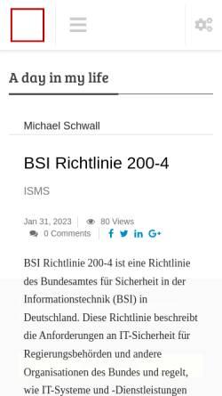 Vorschau der mobilen Webseite www.schwall.com, Systemberatung Michael Schwall