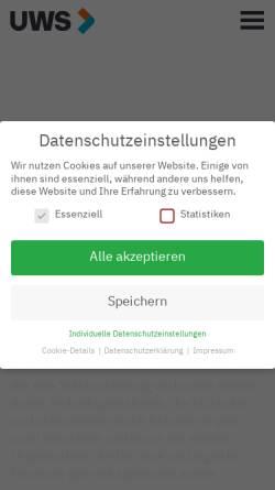 Vorschau der mobilen Webseite www.uw-c.de, Unger, Welsow & Company GmbH