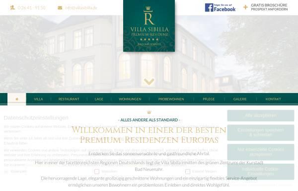 Vorschau von www.villasibilla.de, Villa Sibilla Service Wohnen und Betreutes Wohnen in Bad Neuenahr