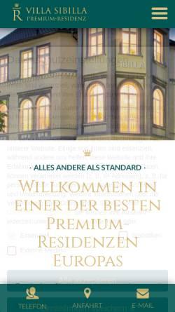 Vorschau der mobilen Webseite www.villasibilla.de, Villa Sibilla Service Wohnen und Betreutes Wohnen in Bad Neuenahr