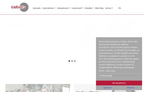 Vorschau von www.karweg.de, Karweg GmbH & Co. KG