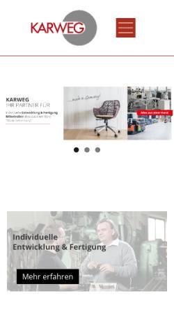 Vorschau der mobilen Webseite www.karweg.de, Karweg GmbH & Co. KG