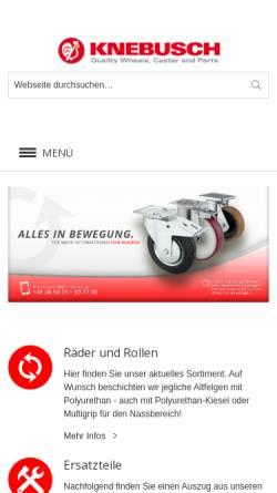 Vorschau der mobilen Webseite www.knebusch-rollen.de, Knebusch Rollen GmbH