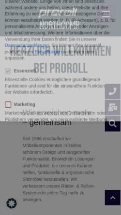 Vorschau der mobilen Webseite proroll.de, Proroll GmbH