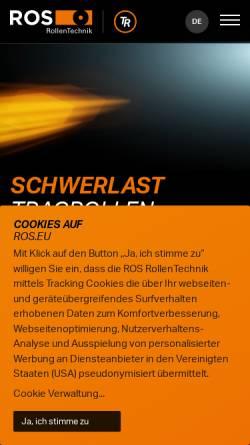 Vorschau der mobilen Webseite www.ros-kastl.de, ROS Rollentechnik Reinhold Schneider GmbH