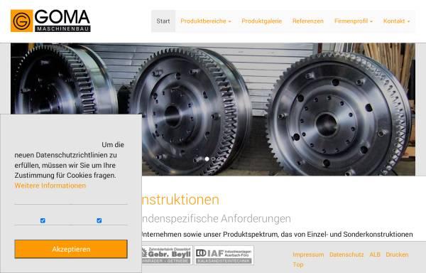 Vorschau von www.goma-gmbh.de, GOMA GmbH