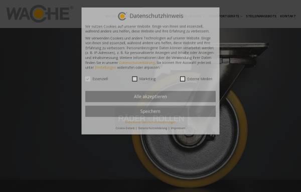 Vorschau von www.wache.de, Wache GmbH & Co. KG