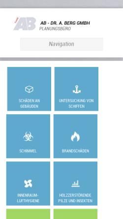 Vorschau der mobilen Webseite www.dr-berg-gmbh.de, Dr. Berg. A.