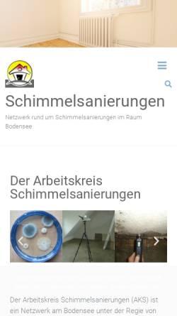 Vorschau der mobilen Webseite www.schimmelsanierungen.de, Endraß, Walter