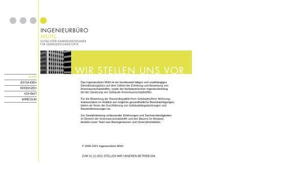 Vorschau von www.ingenieurbuero-muehl.de, Mühl, Karsten
