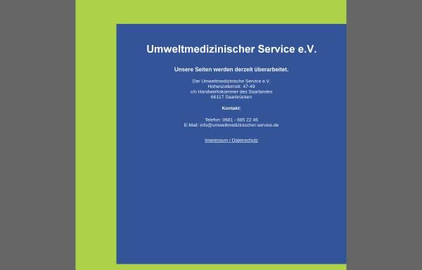 Vorschau von www.umweltmedizinischer-service.de, Umweltmedizinischer Service e.V.