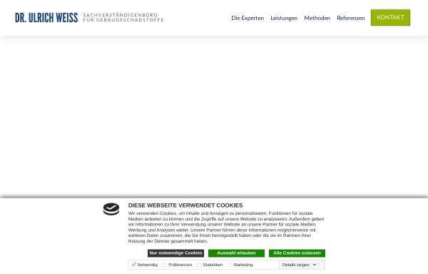 Vorschau von www.innenraumuntersuchung.de, Weiss, Ulrich