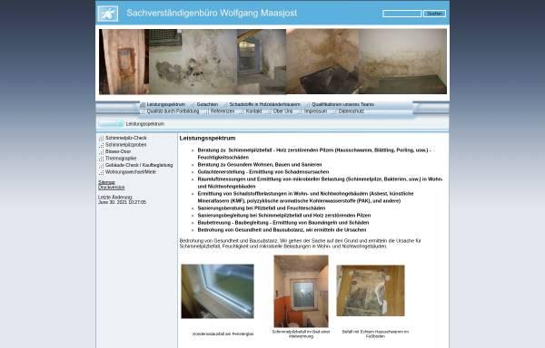 Vorschau von www.schimmelpilz-check.de, Wolfgang Maasjost GmbH