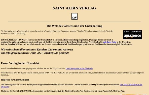 Vorschau von www.saint-albin-verlag.de, Saint Albin Verlag