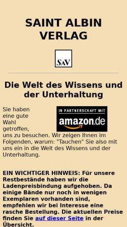 Vorschau der mobilen Webseite www.saint-albin-verlag.de, Saint Albin Verlag