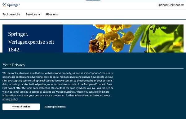 Vorschau von www.springer.com, Springer-Verlag Heidelberg