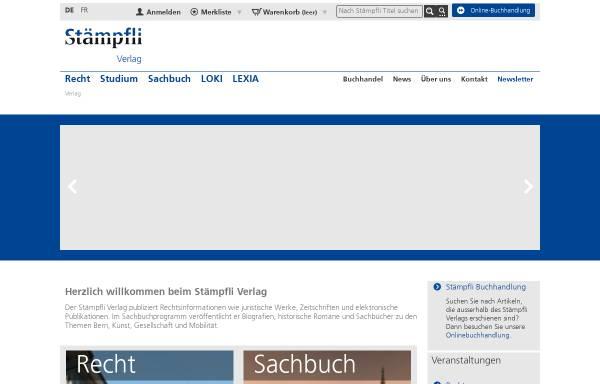Vorschau von www.staempfliverlag.com, Stämpfli