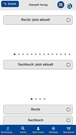 Vorschau der mobilen Webseite www.staempfliverlag.com, Stämpfli