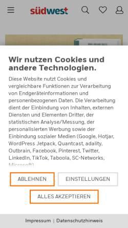 Vorschau der mobilen Webseite www.randomhouse.de, Südwest-Verlag