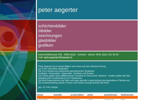 Vorschau von www.peteraegerter.com, Aegerter, Peter
