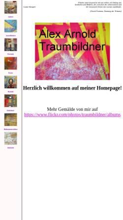 Vorschau der mobilen Webseite www.alex-arnold.de, Arnold, Alex