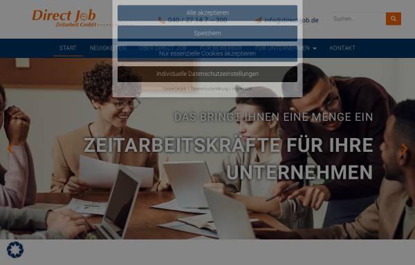 Vorschau von www.direct-job.de, DirectJob Zeitarbeit GmbH