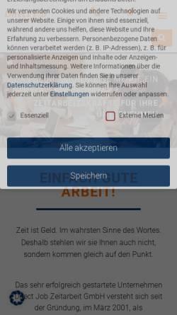 Vorschau der mobilen Webseite www.direct-job.de, DirectJob Zeitarbeit GmbH