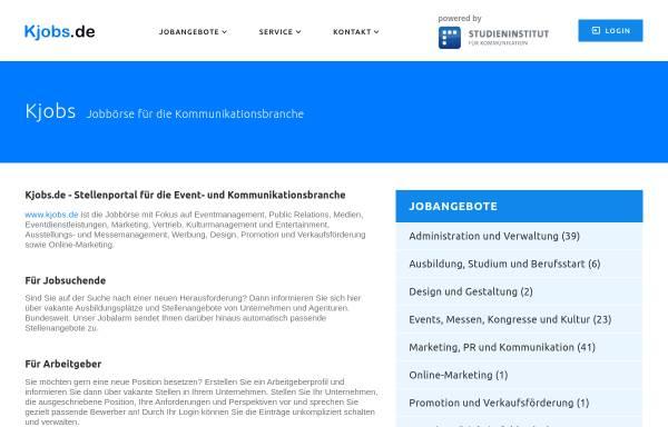 Vorschau von www.kjobs.de, kjobs.de - istis GbR