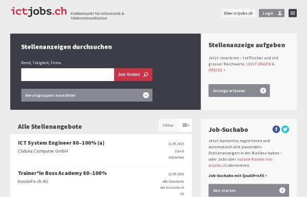 Vorschau von ictjobs.ch, Medienjobs.ch - dpi Publishing Service AG