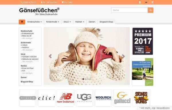 Vorschau von www.schuhe-schuhe.de, Gänsefüßchen