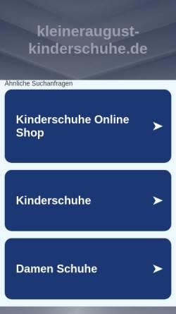 Vorschau der mobilen Webseite www.kleineraugust-kinderschuhe.de, Kleiner August