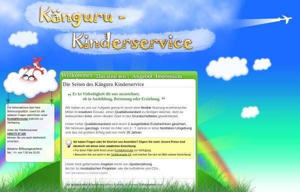 Vorschau von www.kaenguru-kinderservice.de, Känguru Kinderservice