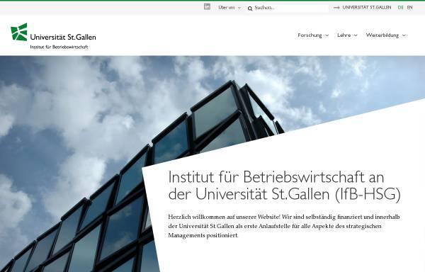 Vorschau von www.ifb.unisg.ch, Institut für Betriebswirtschaft - Management-Institut der Universität St.Gallen