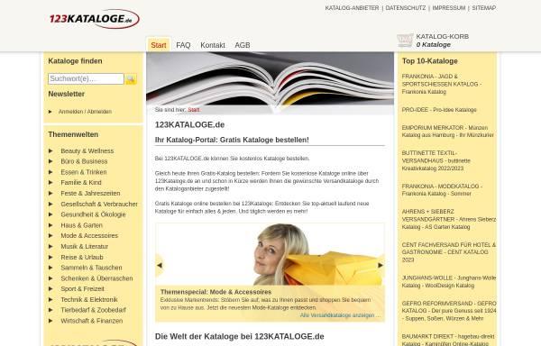 Vorschau von www.123kataloge.de, 123Kataloge.de, primeMail GmbH